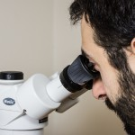 Using the microscope without the eye shields