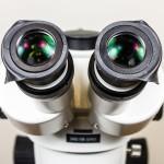 Microscope eye shields - folded down