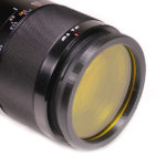 Barrier filter on camera lens