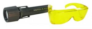 BLS1 - BlueStar Flashlight and Model FG-RB-1 barrier filter glasses - $205.00