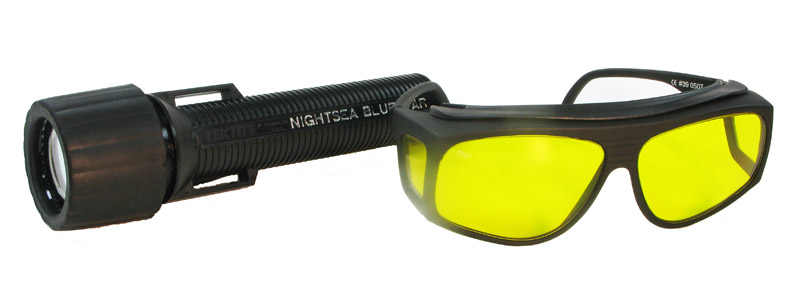 BlueStar Flashlight plus Model VG2 Barrier Filter Glasses