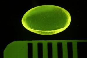 Vitamin D pill, fluorescing
