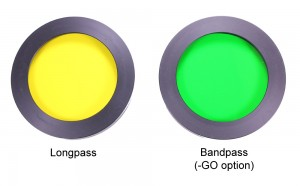 Longpass and bandpass filters for use with Royal Blue excitation