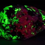 Bustamite fluorescing under longwave ultraviolet light
