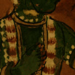 Detail of 17th century Indian painting, ambient light. #1960.53