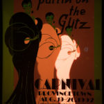 Provincetown Carnival poster, fluorescence.