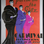 Provincetown Carnival poster, white light.