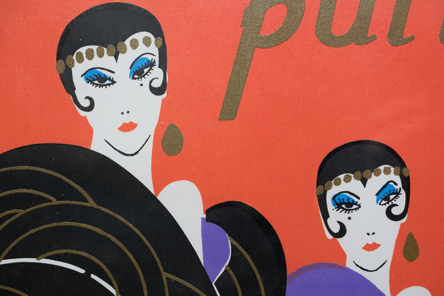 Provincetown Carnival poster detail, white light.
