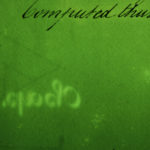 Detail of c.1800 handwritten book, facing page, fluorescence.