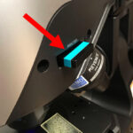 NIGHTSEA barrier filter inserted in FI head Analyzer slot